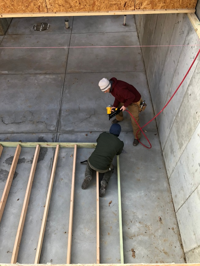 Basement Structural Wall at Stairs