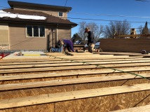 Sheathing the Second Floor