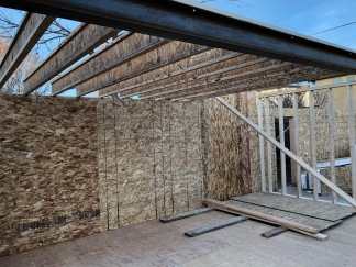 Joists above the Living Room
