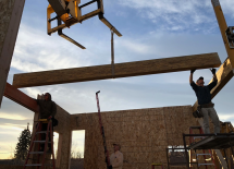 Setting the Ridge Beam