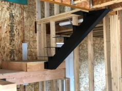 New stairs without wood treads