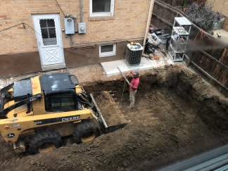 Excavate to Prep for Retaining Wall