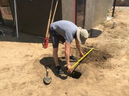 Measuring for post footings