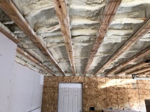 Spray Foam Insulation - Garage Ceiling