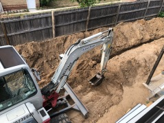 Digging Trench to House Utilities