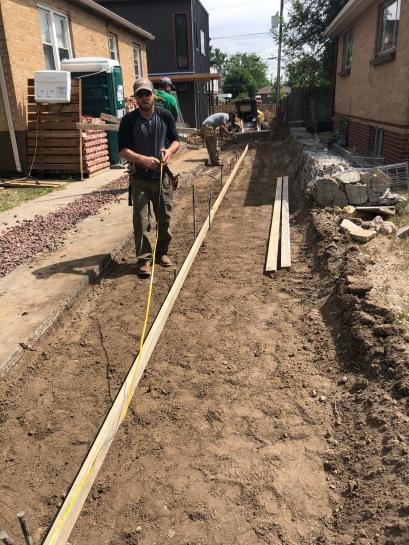 Formwork for Concrete Path